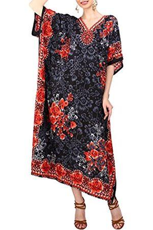 Miss Lavish London Damen Kaftans Kimono Maxi Stil Kleider passend für Teenager bis Erwachsene Frauen in regulären bis Übergrößen - - 50/54 DE