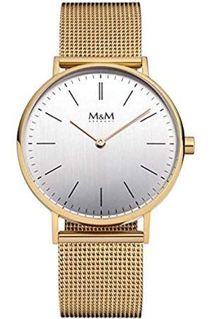 M&M Damen Uhren - DamenAnalogQuarzUhrmitEdelstahlArmbandM11892-232