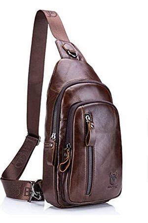 BULLCAPTAIN Herren Schultertasche aus echtem Leder - N0012