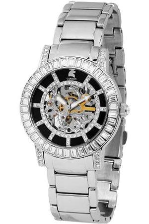 Carucci Damen Uhren - Damenarmbanduhr Automatik CA7108ST-BK