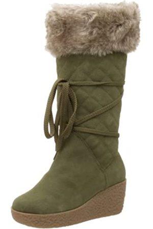 Deer Stags Damen Stiefel - Damen Flirt Wedge Stiefel, Grün (olivgrün)