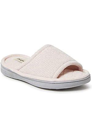 Dearfoams Damen Anne Chenille Slide Slipper, -Dusty pink X-Weit