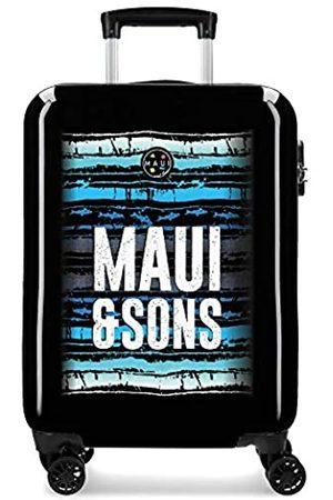 Maui & Sons Enso Waves Kabinenkoffer Mehrfarbig 37x55x20 cms Hartschalen ABS Kombinationsschloss 33L 2