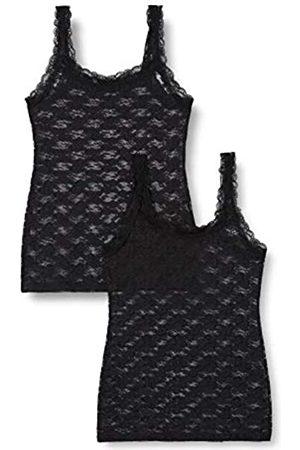 IRIS & LILLY Amazon-Marke: Unterhemd Damen aus Spitze, 2er-Pack , XS