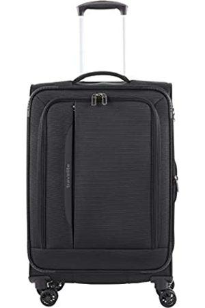 Elite Models' Fashion 4-Rad Weichgepäck Koffer Größe M mit Dehnfalte + TSA Schloss, Gepäck Serie CROSSLITE: Robuster Trolley im Business Look, 089548-01, 67 cm