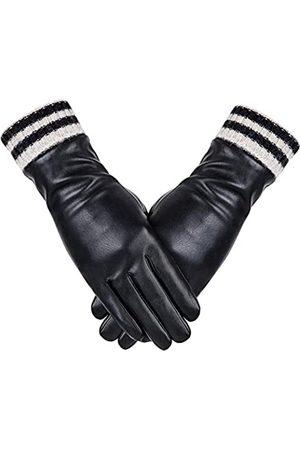Dsane Damen winter leder touchscreen texting warm handschuhe driving 8 xl