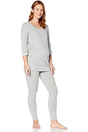 IRIS & LILLY Damen Pyjama-Set aus Modal, Grau (Grey Marl), M