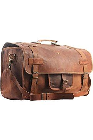 Enew Reisetasche aus Leder, klassisch, rund, handgefertigt