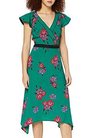 FIND Amazon-Marke: Damen Midi-Wickelkleid mit Blumenmuster