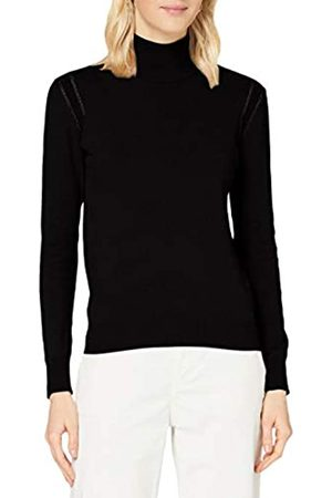 Mexx Womens Roll Neck Cashmere Blend Pullover Sweater, Black
