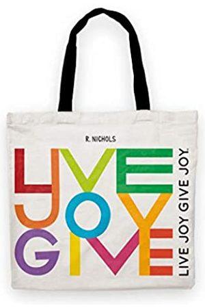 R. Nichols Live Joy Give Joy Reise-Set (Tragetasche + Reißverschlusstasche).