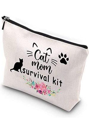 Generic WCGXKO Überlebens-Set mit Reißverschluss, Make-up-Tasche, Geschenk für Katzenbesitzer