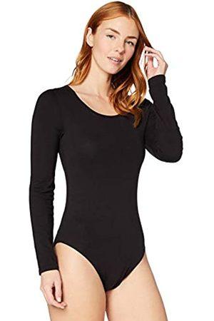 IRIS & LILLY Damen Extrawarmes Thermo-Unterhemd mit Langen Ärmeln (Black), M