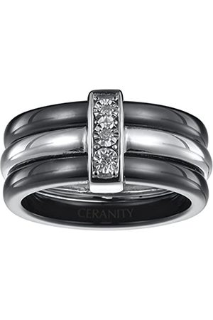 Ceranity Damen Ring, Sterling-Silber 925, Diamant, 58 (18.5)