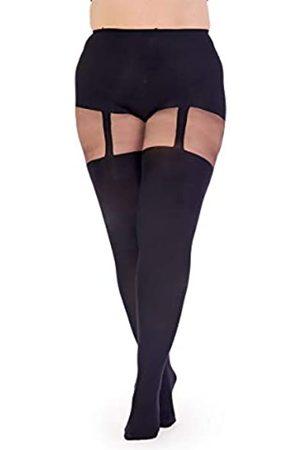 Pretty Polly Damen Curves Suspender Tights Strumpfhose, 60 DEN