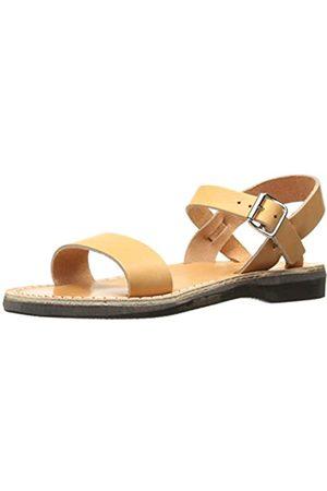 Jerusalem Sandals Naomi Flache Damen-Sandalen, Beige (hautfarben)