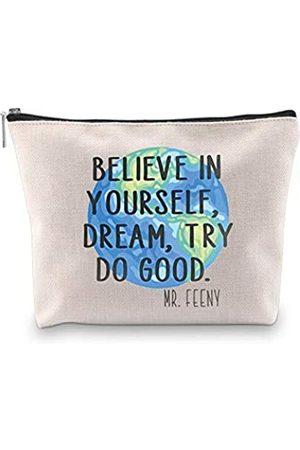 """Generic WCGXKO Kosmetiktasche für Fans mit Aufschrift """"Believe In Yourself Dream Try Do Good"""""""