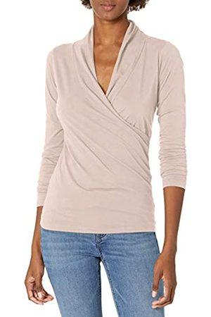 Graham & Spencer Damen T-Shirts - Damen Meri Gauzy Whisper Classics Longsleeve Wrap Tee T-Shirt