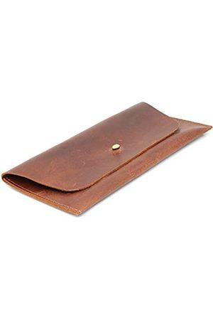 Aruma Herren Handtaschen - Braune Hunter Leder-Geldbörse für Zubehör, Reiseausrüstung, Handtasche für Karten, Geld, Münzen