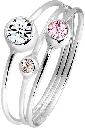 Elli Ring Stapelring Set Kristalle 925 Silber in , Schmuck für Damen