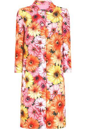 Dolce & Gabbana Geknöpfter Mantel mit Blumen-Print