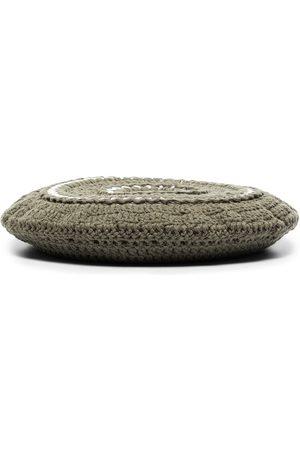 Ganni Damen Hüte - Gehäkelte Baskenmütze