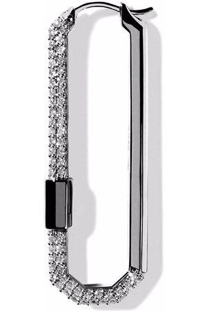AS29 Damen Ohrringe - 18kt Lock Schwarzgoldohrring mit Diamanten