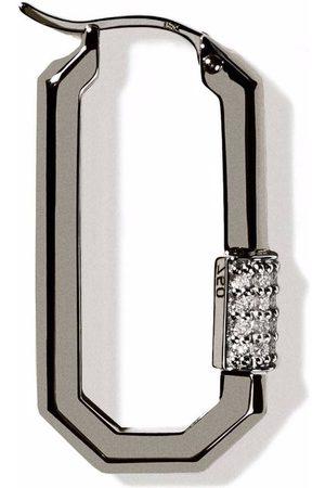 AS29 18kt Lock Schwarzgoldohrring mit Diamanten