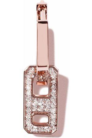 AS29 Damen Ohrringe - 18kt Rotgoldohrring mit Diamanten