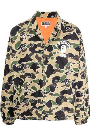A Bathing Ape Hemdjacke mit Camouflage-Print