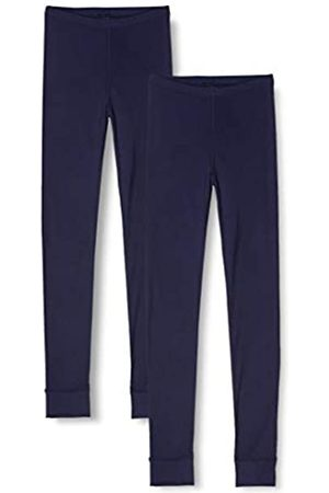 IRIS & LILLY Amazon-Marke: Damen Lange Thermo-Unterhose 2er Pack, Blau (Navy), S