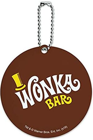 Graphics and More Willy Wonka Gepäckanhänger Wonka Bar Logo rund