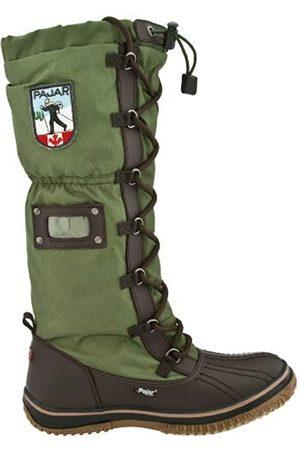 Pajar Grip, Damen abgerundete Spitzen, Dark Brown/Military Green - Größe: 36 EU-36