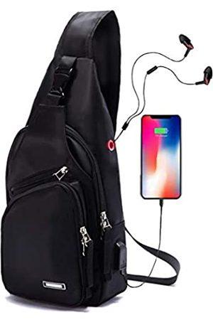 Seoky Rop Herren Sling Bag Wasserabweisend Schulter Brust Crossbody Taschen Sling Rucksack mit USB-Ladeanschluss