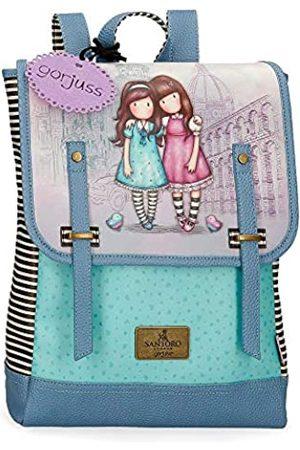 Gorjuss Santoro Friends Walk Together Laptop-Rucksack Violett 29x38x9 cms Synthetisches Leder 13