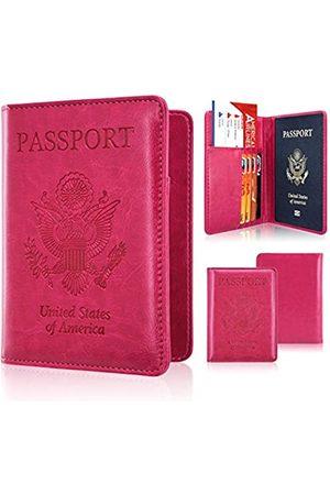 ACdream Reisepasshülle, Leder, RFID-blockierende Brieftasche, Tasche für Familienreisen