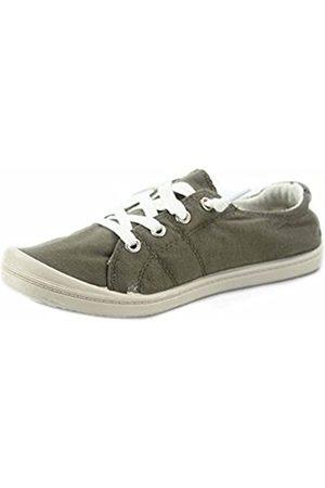Generic Soda Zig-s Women's Causal Flat Heel Slip On Lace Up Look Sneaker Shoes