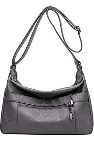 Hiigoo Reisetasche PU Leder Messenger Bag Casual Totes Schultertaschen Mode Handtaschen