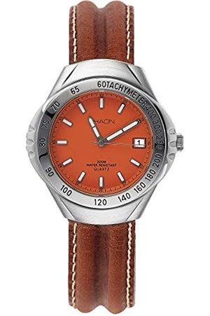 Shaon Herren Analog Quarz Uhr mit Leder Armband 35-6010-66