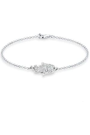 Elli Armband Damen Hamsa Hand mit Kristallen in 925 Sterling