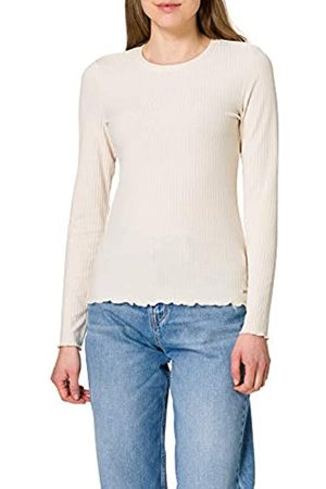 TOM TAILOR Damen 1023948 RIPP Longsleeve T-Shirt, 22515-Soft Creme