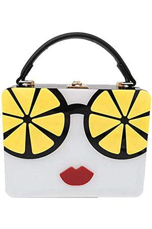Boutique De FGG Acryl-Umhängetasche für Damen, Handtasche und Handtaschen, Clutch, Crossbody-Tasche, Gelb (zitronengelb)