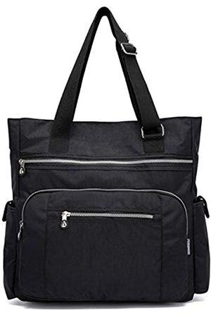 Nawoshow Damen Canvas Tote Bag Wasserdichte Nylon Multi Pocket Schultertaschen Arbeitstasche Lehrerbörse und Handtaschen, (A- )