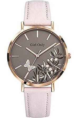 GO Girl Only Damen Analog Quarz Uhr mit Leder Armband 699091