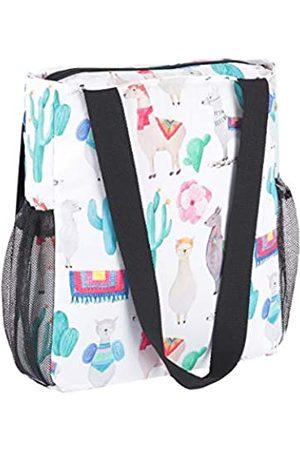 Enterlife Tragetasche mit Blumenmuster, faltbar, leicht, wasserdicht, große Reisetasche für den täglichen Einkauf Strand
