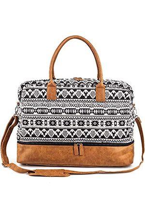 MEEJUNE Damen-Reisetasche aus Segeltuch mit Schuhfach