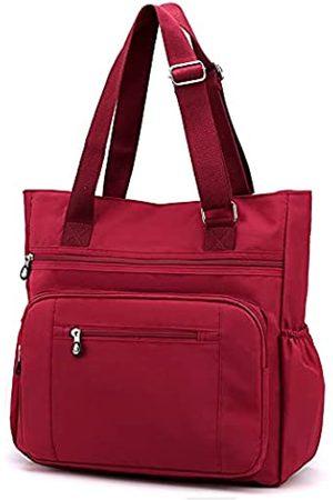 Lavogel Mehrfach Taschen Nylon Taschen Handtasche Große Schultertasche Reise Geldbörse Taschen für Frauen, (Y-Weinrot)
