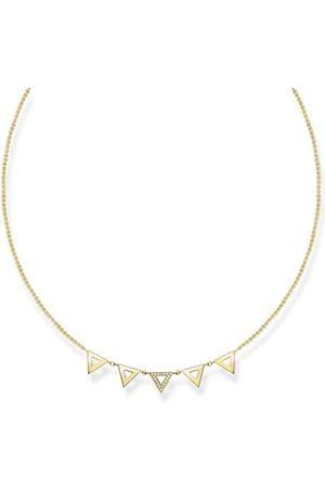 Thomas Sabo Damen-Kette mit Anhänger Glam & Soul 925 Silber Diamant (0.05 ct) weiß 45 cm - D_KE0009-924-14-L45v