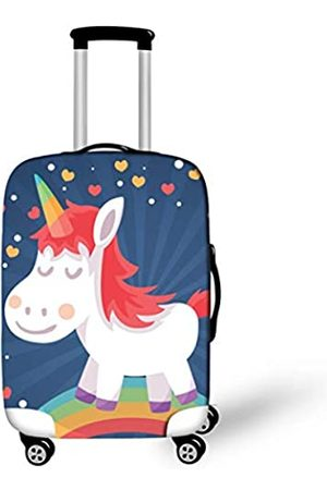 OSVINO Koffer Abedeckung Kofferschutzhülle Einhorn-Serie fest mit Reißverschluss für 18-28 Zoll Reisekoffer L/26-28 Zoll