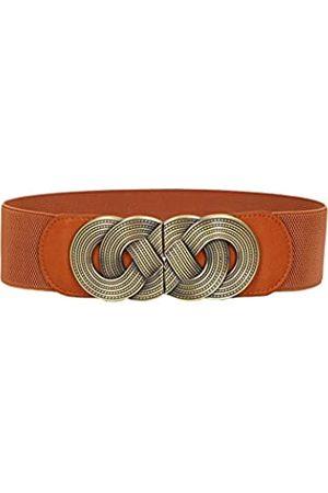 See Bello Hoher Taillengürtel, breiter Stretch-Gürtel, Vintage-Metallschnalle, dekorativ, elastisch, Übergröße